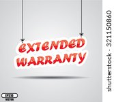 extended warranty promotional... | Shutterstock .eps vector #321150860