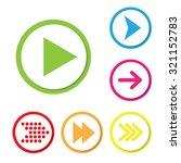 arrow icon set. vector.   Shutterstock .eps vector #321152783