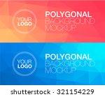 horizontal  polygonal banners | Shutterstock .eps vector #321154229