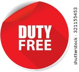 duty free red round label ... | Shutterstock . vector #321155453