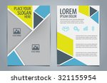 brochure template design vector ... | Shutterstock .eps vector #321155954
