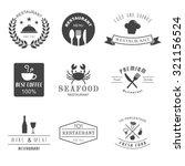 restaurant logo  retro vector... | Shutterstock .eps vector #321156524