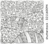 pattern for coloring book with... | Shutterstock .eps vector #321160094