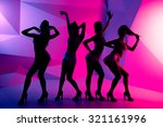 silhouette of a dancing girls