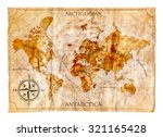 old map  vector illustration | Shutterstock .eps vector #321165428