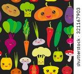 seamless pattern kawaii bell... | Shutterstock .eps vector #321167903
