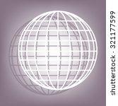 earth globe   icon | Shutterstock . vector #321177599