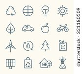 ecology icon set | Shutterstock .eps vector #321180509