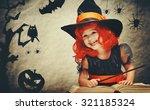 Halloween. Cheerful Little...