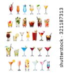 set of isolated cocktails and... | Shutterstock . vector #321187313