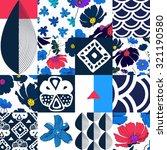 quilt patchwork texture.... | Shutterstock .eps vector #321190580