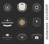retro logotypes vector set.... | Shutterstock .eps vector #321192029