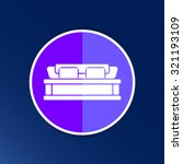 double bed icon vector button... | Shutterstock .eps vector #321193109