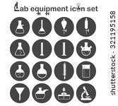 lab equipment icon set  16...