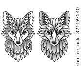foxes. vector illustration for ... | Shutterstock .eps vector #321197540