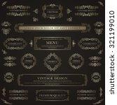 set of golden decorative... | Shutterstock .eps vector #321199010