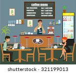 coffee bar  coffee shop. people ... | Shutterstock .eps vector #321199013