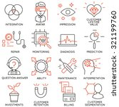 vector set of 16 icons related... | Shutterstock .eps vector #321199760