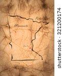 map minnesota of america on the ... | Shutterstock . vector #321200174
