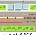 railway station top view with... | Shutterstock .eps vector #321200333