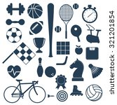 sports icons. | Shutterstock .eps vector #321201854
