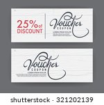 vector gift voucher template.  | Shutterstock .eps vector #321202139