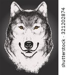 vector sketch of a wolf face...   Shutterstock .eps vector #321202874