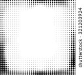grunge halftone dots vector... | Shutterstock .eps vector #321203924