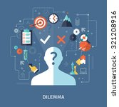 dilemma concept with target... | Shutterstock .eps vector #321208916