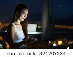 woman using the laptop computer ... | Shutterstock . vector #321209234