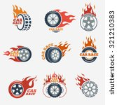 racing flat labels set. blaze... | Shutterstock .eps vector #321210383