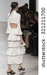 Small photo of New York, NY - September 16, 2015: Issa Lish walks the runway at the Proenza Schouler fashion show during the Spring Summer 2016 New York Fashion Week