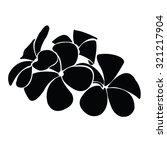 frangipani silhouettes for... | Shutterstock .eps vector #321217904