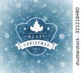 christmas greeting card lights...   Shutterstock .eps vector #321218480