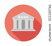 flat bank icon with long...   Shutterstock .eps vector #321220766