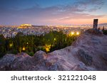 View Of Athens And Acropolis...