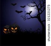 halloween poster. vector... | Shutterstock .eps vector #321221273