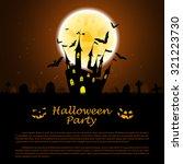 halloween greeting  invitation  ... | Shutterstock .eps vector #321223730
