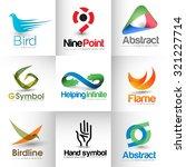 collection of vector branding... | Shutterstock .eps vector #321227714