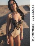 beautiful girl posing in a... | Shutterstock . vector #321232166