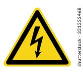 high voltage sign. danger... | Shutterstock .eps vector #321233468