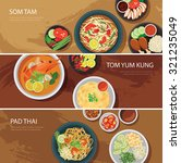 Thai Food Web Banner Flat...