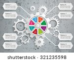 Infographic With Gears On The...