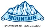 mountain landscape label | Shutterstock .eps vector #321236300