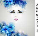 beautiful abstract women with... | Shutterstock .eps vector #321239324
