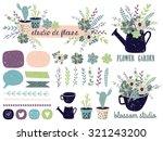vector set with vintage flowers.... | Shutterstock .eps vector #321243200