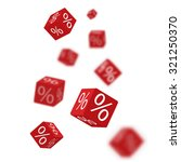 3d discount boxes dice for... | Shutterstock .eps vector #321250370