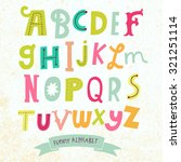 bright alphabet set in vector.... | Shutterstock .eps vector #321251114