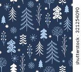 christmas trees seamless... | Shutterstock .eps vector #321254090