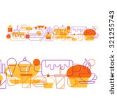 fast food pattern and...   Shutterstock .eps vector #321255743